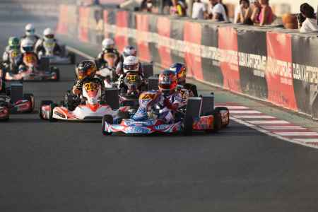 Junior Class Race Start - X30 Challenge UAE 2017/2018 Round 1 - Dubai Kartdrome
