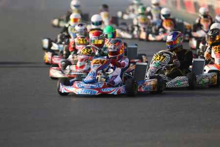 Jamie Day - Junior Class Race Start - X30 Challenge UAE 2017/2018 Round 1 - Dubai Kartdrome